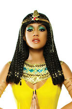 Brand New Deluxe Egyptian Goddess Cleopatra Braids Women Adult Wig