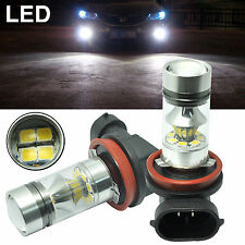 2XH11 H8 100W 20SMD Samsung 2323 LED Fog Lights Super White 1980LM Driving Bulbs