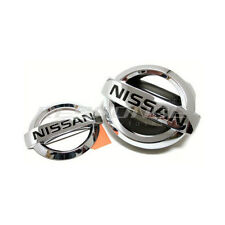 JDM Nissan Emblems Badges Front & Rear For 03-07 Infiniti G35 Coupe Skyline V35
