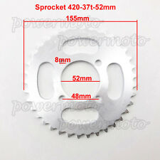 420 37 Tooth 52mm Rear Chain Sprocket For 110 125cc ATV Quad Taotao Buyang Baja