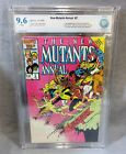 THE NEW MUTANTS Annual #2 (Psylocke 1st app) White Pages CBCS 9.6 Marvel cgc