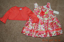 Girls Clothing 18 Month Dress w Flowers & Top, By Young Land Baby