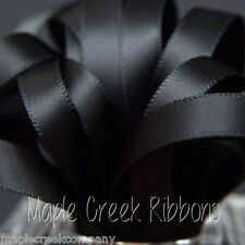 """3yds of Black 5/8"""" Double Face Satin Ribbon 5/8"""" x 3 yards neatly wound"""