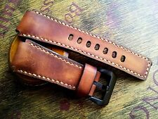 24mm   Handmade quality leather watch strap,army ,Bell & Ross , Panerai