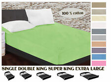 100% cotton king size fitted bed sheet 160 x 200 cm plain sheet 63 x 79 in