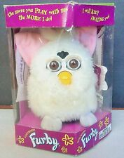 ORIGINAL White FURBY TIGER ELECTRONICS w/ BOX Model 70-800 SNOWBALL 1998