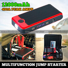 T6 12000mAh Portable Car Vehicle Jump Starter Phone Charger Power Bank 12V 400A