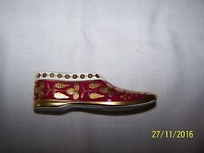 Historic Miniature Shoes Collection -  Spode - Red and Pink Slipper