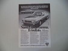 advertising Pubblicità 1980 LANCIA GAMMA COUPE'/BERLINA