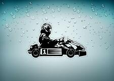 Decal sticker vinyl decor room man karting kart race racing ref2