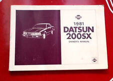 Datsun 200SX 1981 Owner's Manual