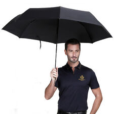 High Quality Men's Auto Open & Close Windproof Vented Umbrella Folding Black