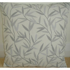 "18"" Cushion Cover Laura Ashley Willow Leaf Steel Willowbough Silver Grey"