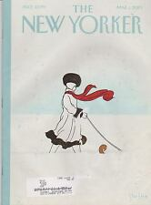 MARCH 1 2010 NEW YORKER vintage magazine - WOMAN WALKING DOG IN SNOW