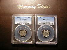 From Recent Estate Nice Set Of Mercury Dimes 1916-45 Includes PCGS 16-D & 42/41