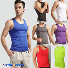 Mens Under Shirt Tops Body Armour Compression Wear Baselayer Tank Top Vest Tee