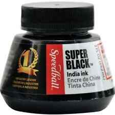 Speedball Calligraphy Lettering Drawing India Ink Super Black 2 Ounce