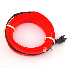 12V 2M EL-Wire Car Interior Decor Fluorescent Neon Strip Cold light Tape Red
