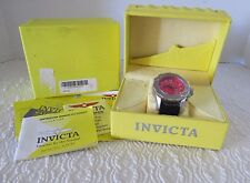 Men's Invicta II 4668 Sport Chronograph Elite Divers, 100M Red Dial, Leather