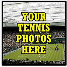 PERSONALISED COASTERS - OWN TENNIS PHOTO'S  - SET OF 4 COASTERS - GIFT -  NEW