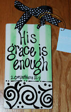 TOUGH TIMES Christian Bible Verse PLAQUE His Grace Is Enough Gift Boxed NEW