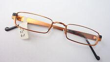 Nahbrille Lese Gestell sehr schmal Marke kupfer schwarz glasses GR M Metallrand