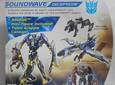 TransFormers Prime SOUNDWAVE Deluxe Class Beast Hunters Figure RAVAGE Drone NEW