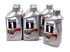 MOBIL-1  RACING 4T 10W-40 OIL CASE (6)QT SYNTHETIC MOTORCYCLE SPORT BIKE LUCAS