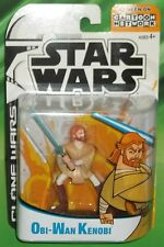 STAR WARS AOTC SAGA CLONE WARS ANIMATED CARTOON SERIES OBI WAN KENOBI FIGURE