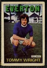 (Le140-348) ABC Gum, Footballers, Everton, #185 Tommy Wright 1972 G-VG
