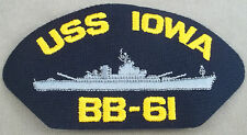US Navy Cap Patch USS Iowa BB - 61 Battleship / Style B