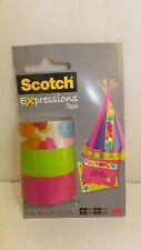 """3 Rolls Scotch Expressions Tape Refills, 3/4"""" x 300"""" (C214-3Pk-8) Pink Green"""