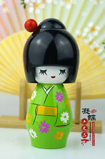 1 pcs home decor wooden Kokeshi geisha Japanese girl art gift wood Dolls 14cm
