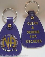 1 NARCOTICS ANONYMOUS   DECADES   PURPLE  KEY TAG ANNIVERSARY