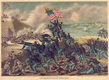 Civil War Prints and Drawings: Storming Fort Wagner: Fine Art Print