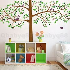 Large Bird Tree Branch Trunk Wall Sticker Removable Decals Kids Nursery Decor