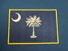 United States of America South Carolina State Flag Embroidered Iron On Patch