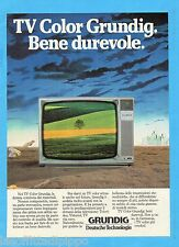 QUATTROR984-PUBBLICITA'/ADVERTISING-1984- GRUNDIG TV COLOR