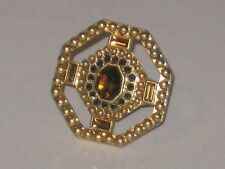 Lia Sophia RED CARPET GOLD CRYSTAL RING SIZE 7 -LOTS OF SPARKLE -STATEMENT PIECE