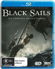 Black Sails : Season 2 (Blu-ray, 2015, 4-Disc Set)
