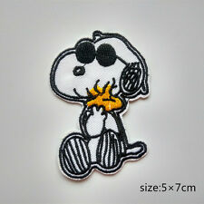 Snoopy Dog Wearing Sunglasses Woodstock Embroidered Iron On Patch Applique