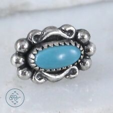 Sterling Silver | SOUTHWESTERN Scroll Turquoise 1g | Post (SINGLE) Earring