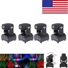 4pcs 12W Little RGBW Moving Head Stage Light Lighting Beam Spot DMX Party O7Q4