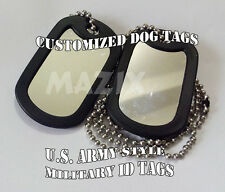 Id Tag Personalized Military Style Dog Tags bag pet Customized key chain college