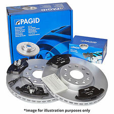 GENUINE PAGID FRONT AXLE BRAKE KIT BRAKE DISCS 55230 Ø 289 mm BRAKE PADS T1603