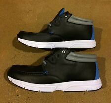 DVS HUNT HL Size 11 Black Leather BMX DC Skate Deck Boat Shoes SB $78 Box Price