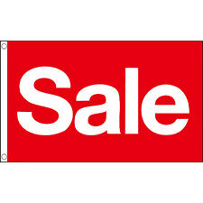 Sale Red Flag 5Ft X 3Ft Shop Retail Business Banner Sign With 2 Metal Eyelets