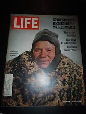 Old LIFE Magazine December 4, 1970 Stalin's War - NFL Football Oakland Raiders