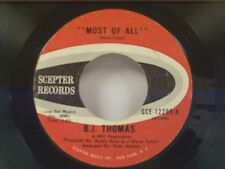 """B J THOMAS """"MOST OF ALL / THE MASK"""" 45"""