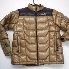 $250+ L.L. Bean Men's 800 Fill  Down Pertex Quantum Jacket Gold/Black Medium NEW